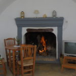 chimenea salon cueva 6, ermitaño